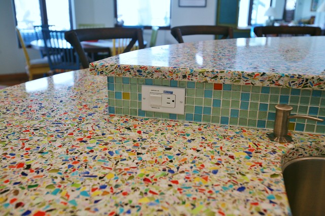 Vetrazzo Millefiori Recycled Glass Islands - Contemporary - Kitchen - Tampa - by Refresh ...
