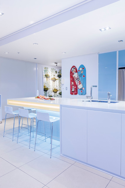 Viaduct Basin - Contemporary - Kitchen - auckland - by Mal Corboy ...