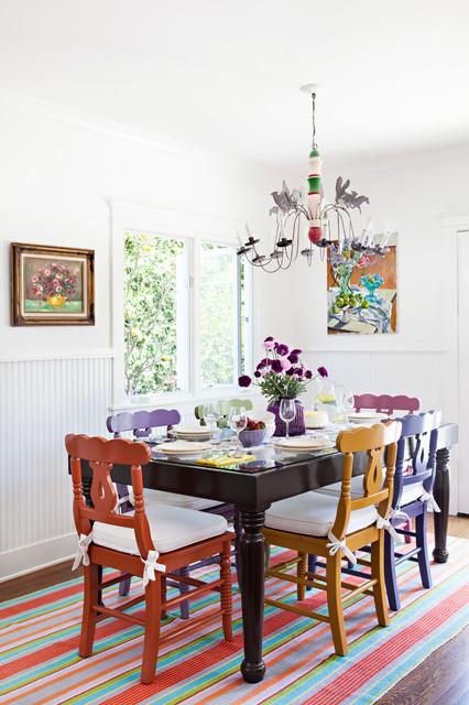 Vibrant Santa Monica Cottage Shabby chic Style Kitchen