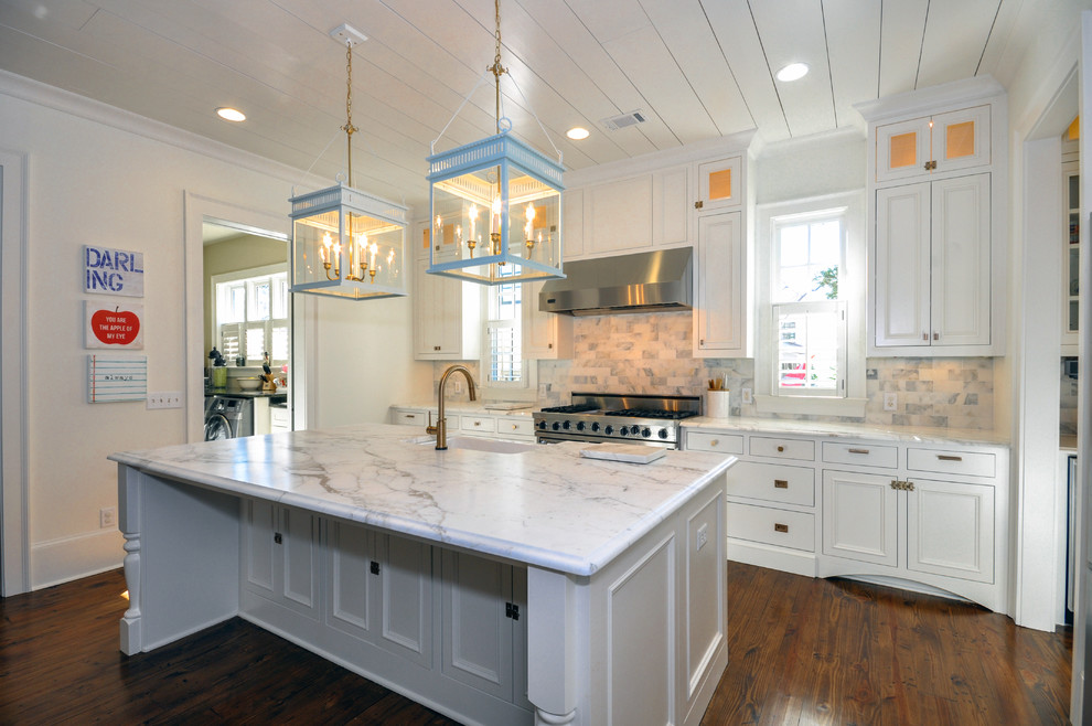 Vickery Kitchen gets facelift with new recessed off white ...