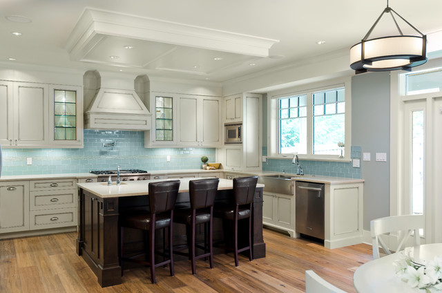 Victoria Bc Luxury Craftsman Traditional Kitchen