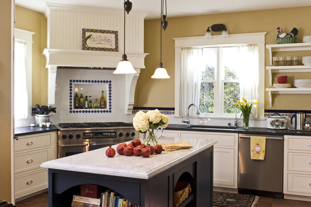 Example Of An Ornate Kitchen Design In Santa Barbara With Stainless Steel  Appliances