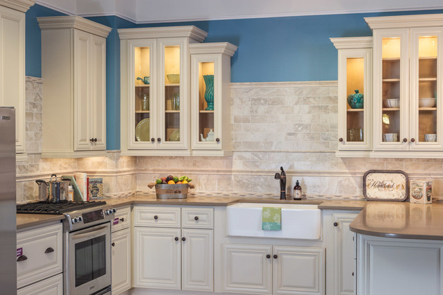 victoria ivory kitchen cabinets traditional kitchen - Kitchen Cabinets Baltimore