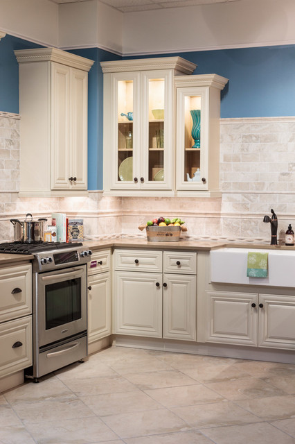 Victoria Ivory Kitchen Cabinets - Traditional - Kitchen - Baltimore - by Cabinets To Go