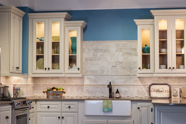 Victoria Ivory Kitchen Cabinets - Traditional - Kitchen ...