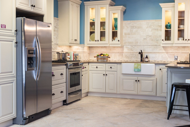 Victoria Ivory Kitchen Cabinets - Traditional - Kitchen - baltimore ...