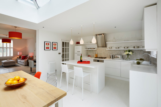Victorian End Terrace House In Sevenoaks Kent Contemporary Kitchen London By Zazudesigns