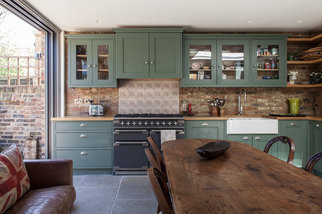 Victorian House Reconstruction West London Shabby Chic Style Kitchen L