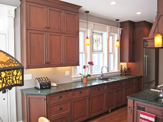 Victorian in wakefield traditional kitchen boston for Traditional victorian kitchen designs