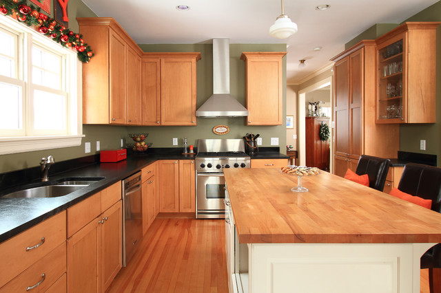 Victorian replacement house traditional-kitchen