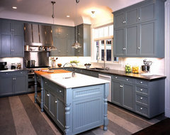 Victorian Row House traditional-kitchen