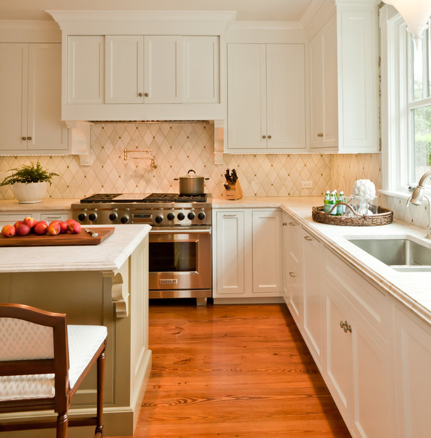 Victorian summer cottage transitional kitchen for Transitional kitchen designs photo gallery