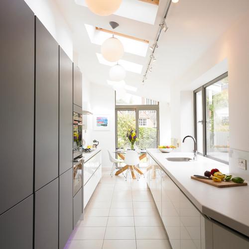 bain de lumière dans la cuisine