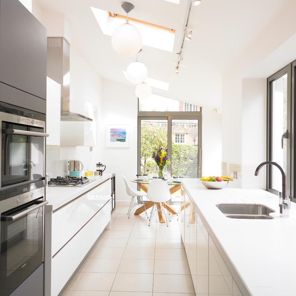 Victorian Terrace House Kitchen Contemporary Kitchen West Midlands By Cream Black Interior Design Houzz