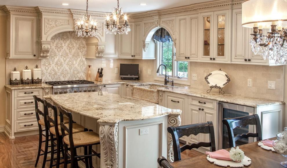 Victorian White Custom Kitchen - Victorian - Kitchen - New ...