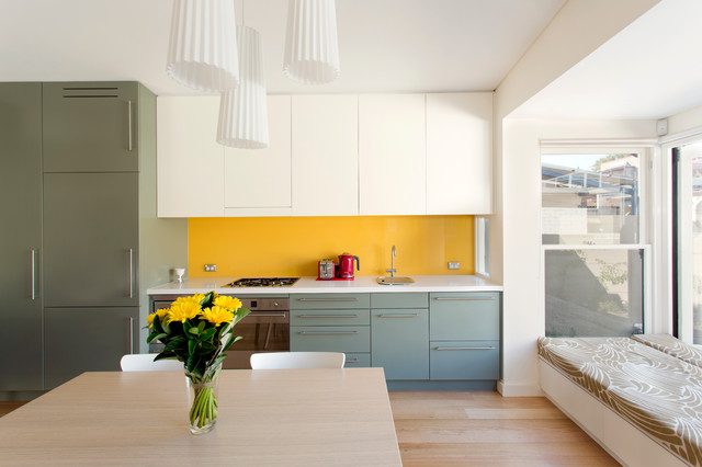 Victorian Workers Cottage Addition - Contemporary - Kitchen - sydney - by Danny Broe Architect