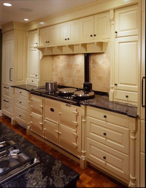 View of AGA Cooker - Traditional - Kitchen - minneapolis - by Porth Architects, Ltd.