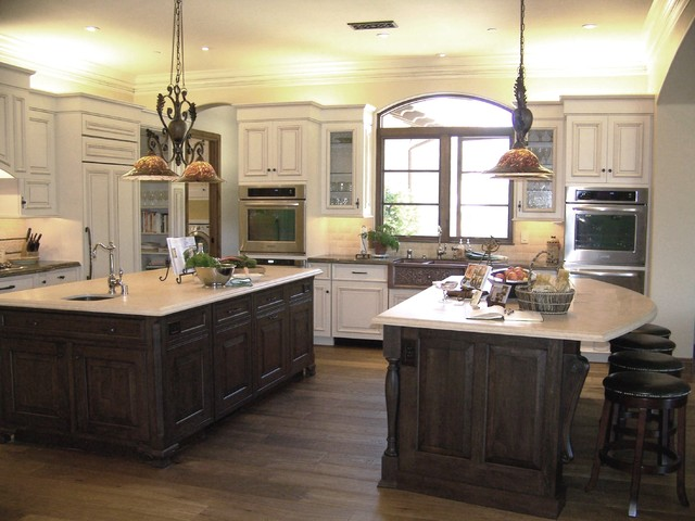 View of both islands - Kitchen designer san diego ...