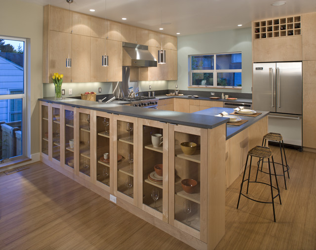 View ridge residence contemporary kitchen seattle for Modern kitchen cabinets seattle