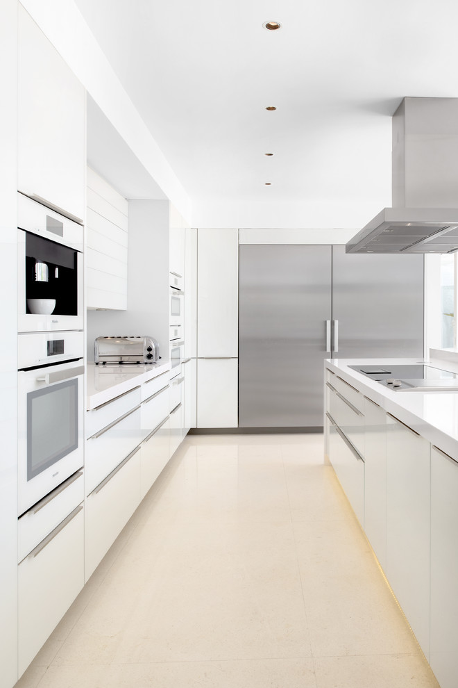 Example of a minimalist kitchen design in Other
