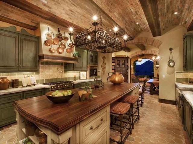 VIlla Del Cielo mediterranean-kitchen