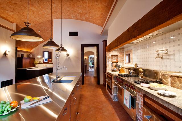 Villa Girasole mediterranean-kitchen