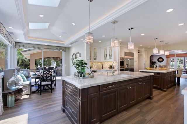 Villa Park Stunning Elegance 2 islands - Transitional - Kitchen ...