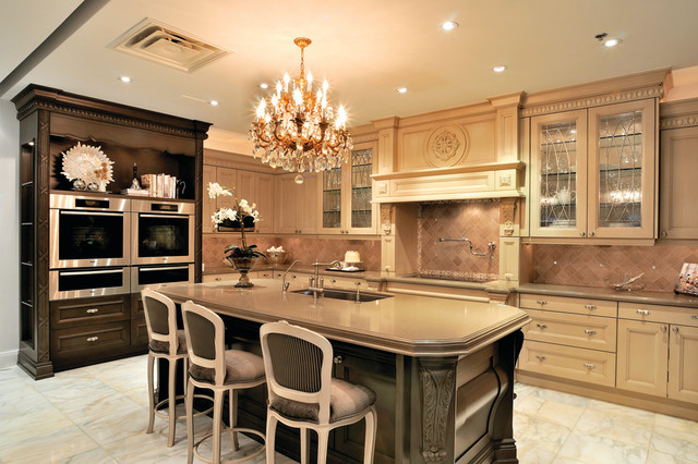 Ville st laurent traditional kitchen montreal by for Kitchen design montreal