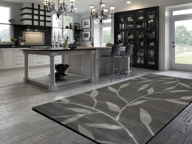 Vineworx rug in a contemporary kitchen Contemporary