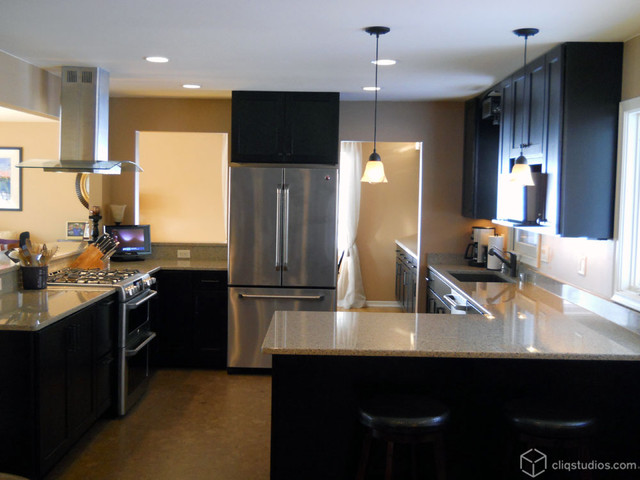Vintage 1969 Ranch Kitchen Remodel - Contemporary - Kitchen - minneapolis - by CliqStudios Cabinets