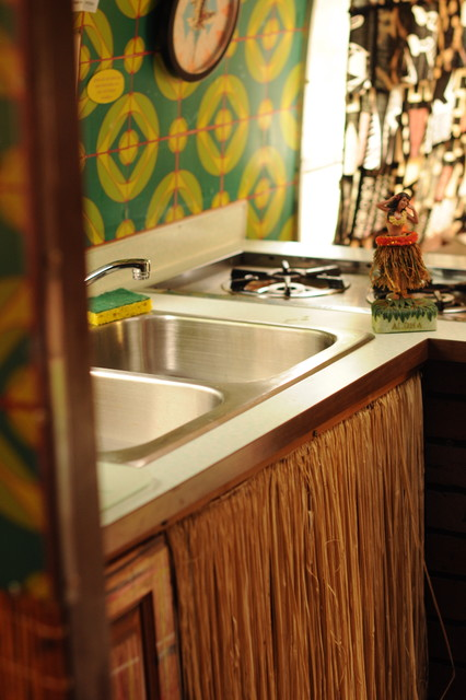 vintage airstream kitchen eclectic kitchen