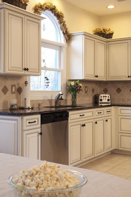 Vintage Antique White - Mediterranean - Kitchen - newark ...