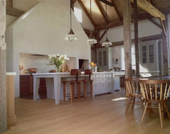 Vintage barn frame addition to Dutch stone house traditional-kitchen