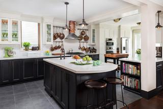 Vintage Beach Home - Dream Art Deco Kitchen - Transitional ...