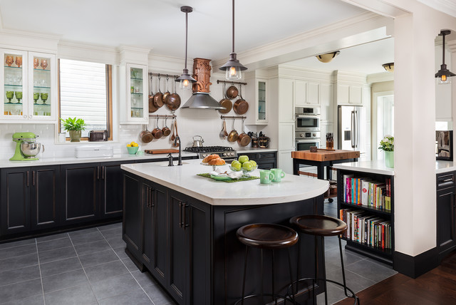 Kitchen Of The Week Art Deco Style And A Place For Entertaining
