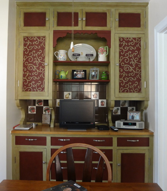 Vintage Butler's Pantry Cabinets traditional-kitchen