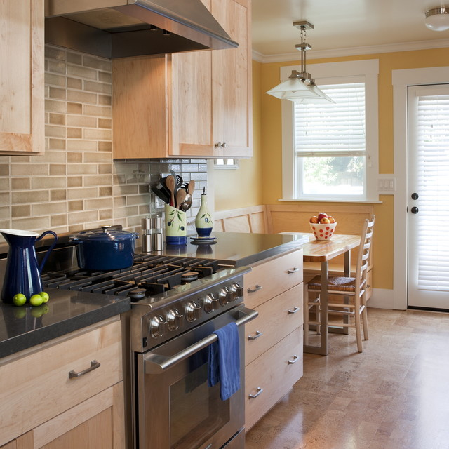 Maple Cabinets In Traditional Kitchen: Vintage Charm, In A Petit Home