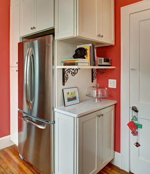 Kitchen Cabinets Around Fridge: Cabinets Around Chimney In Kitchen