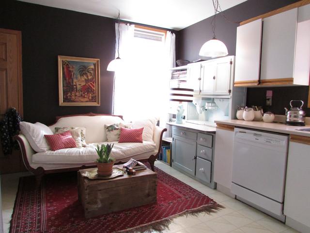 Vintage Elegance Eclectic Kitchen by Jenn