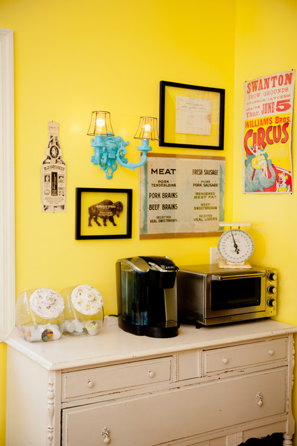 Vintage Food Related Gallery Wall Farmhouse Kitchen