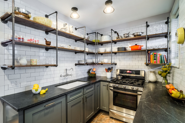 Vintage Galley Transitional Kitchen Chicago By Powersmith Design