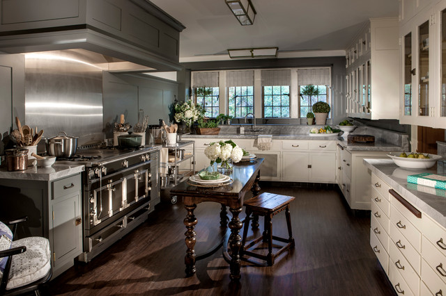 Vintage Kitchen Makeover/Greystone Mansion Beverly Hills ShowHouse - Traditional - Kitchen - los ...