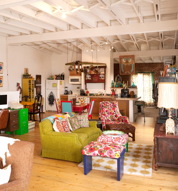 Vintage renewal loft for Kitchen ideas eclectic