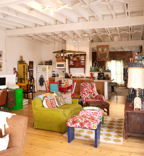 Vintage Renewal Loft eclectic kitchen