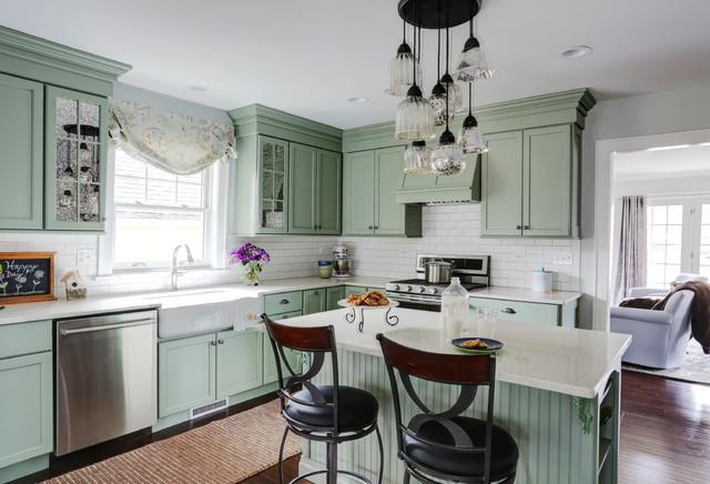 Vintage Revival Of Dutch Colonial Kitchen Glen Ellyn Il