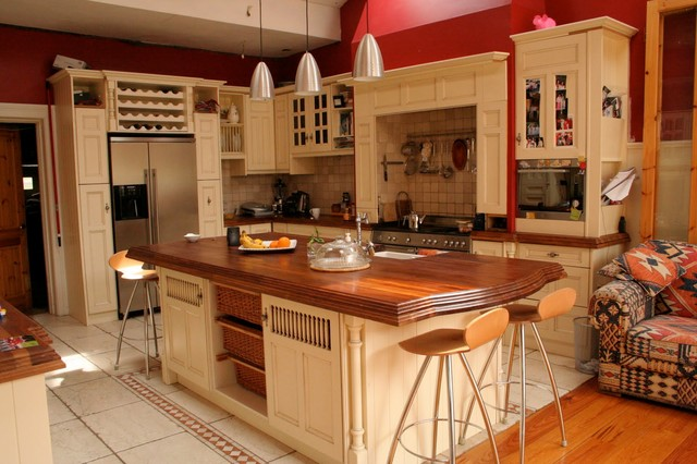 Vintage Style Kitchen In Dublin Ireland By Traditional