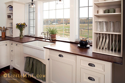 Vintage Unfitted Freestanding White Kitchen - Traditional - Kitchen ...