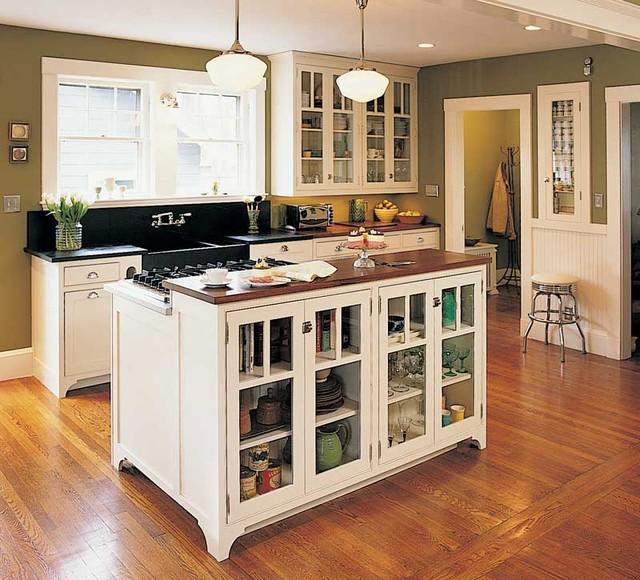 Vintage Unfitted Kitchen Design Traditional Kitchen Other