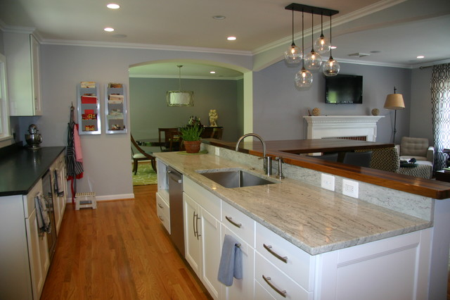 virginia mist and river white granite kitchen