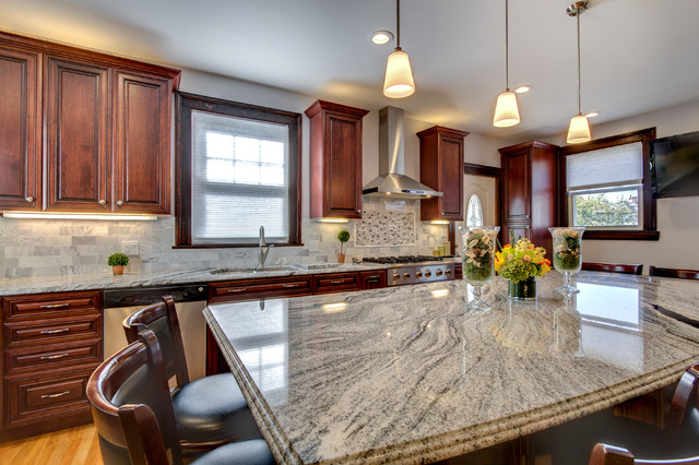 ... White Kitchen Cabinets Granite Countertops. Rustic Kitchen Designs  Pictures And Inspiration